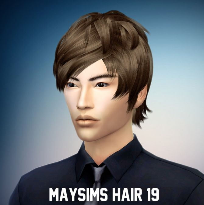 Retextured Maysims Hair 19 at Ritsuka via Sims 4 Updates