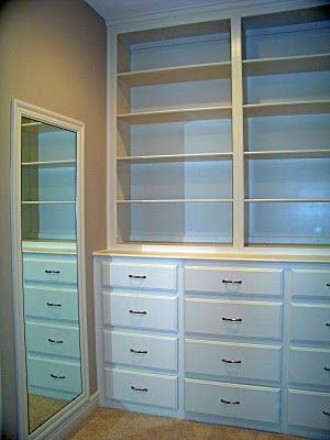 Built In Dresser Shelves For The Master Maybe With A Smaller 3 Drawers And Library Ladder To Reach Up High