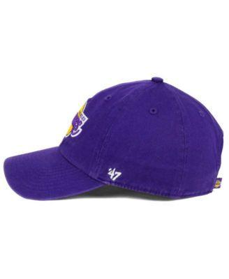 24dc58fe7299e 47 Brand Los Angeles Lakers Clean Up Cap - Purple Adjustable ...