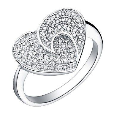 خواتم فضة نسائية مميزة صور خواتم فضة حريمي اكسسوارات خواتم فضة 2014 اكسسوارات بنوته أزياء بنوته ب Silver Heart Ring Crystals Jewelry Ring Rings For Her