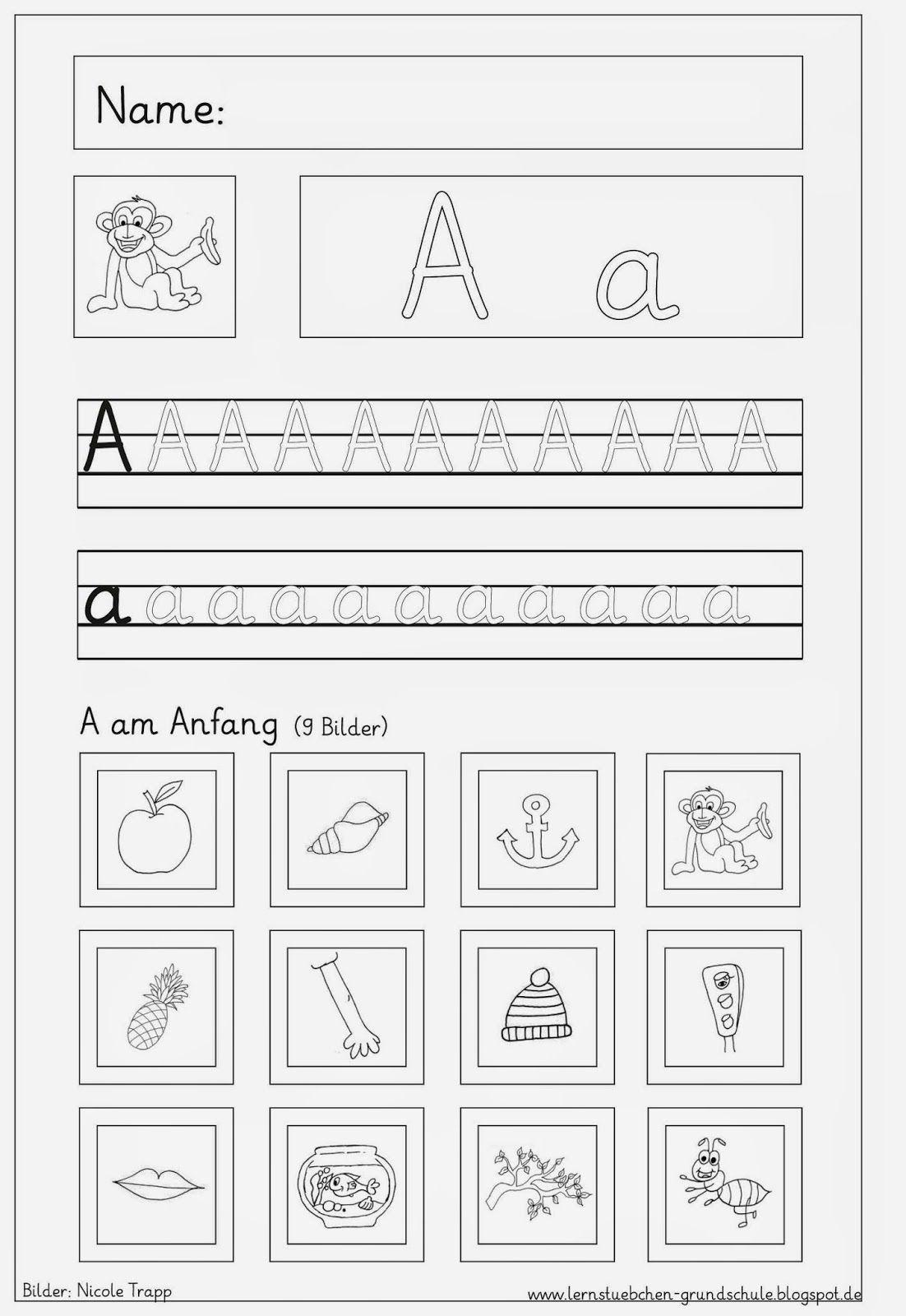 Vertiefungsblatter Zu Den Eingefuhrten Buchstaben