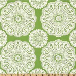 Michael Miller Christmas Tonal Kaleidoscope Lawn Green fabric
