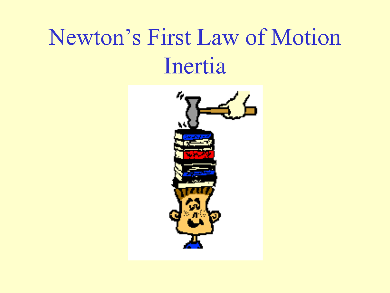 Newton S First Law Descirbes Motion And Interia And How