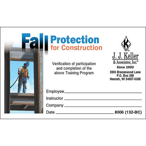 Fall Protection Certification Template 7 Professional T In 2021 Certificate Of Participation Template Certificate Of Achievement Template Gift Certificate Template