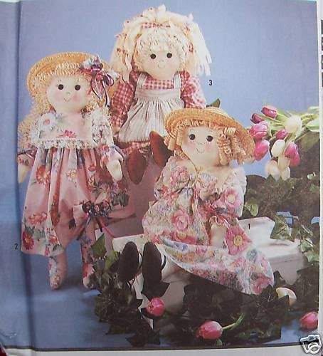 "Rag doll pattern easter bunny greeter rabbit 24/"" w// clothes Country Elaine Heigl"