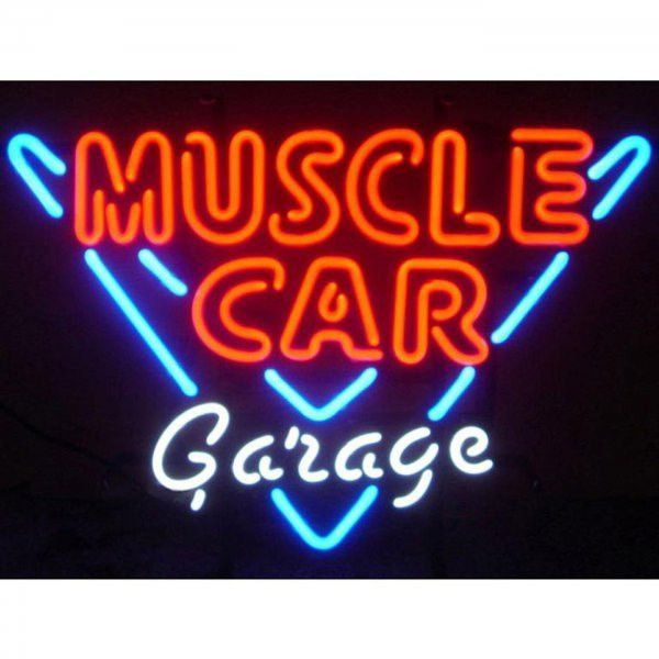 "Neon Light Signs For Sale Buy Muscle Car Garage Neon Sign Multicolor 23""h X 23""w X 4""d At"