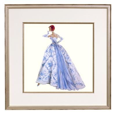 Provencale Framed Fashion Barbie Print Fashion