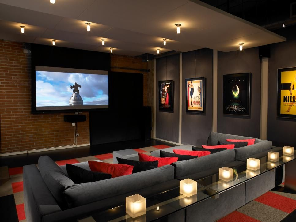 This Sleek Contemporary Home Theater