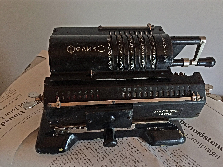 FELIX Soviet vintage mechanical calculator USSR counting