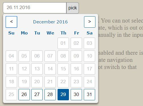 Beautiful Customizable Datepicker Plugin For jQuery - hw