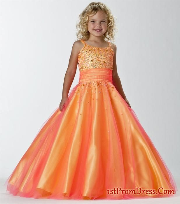 young girl summer dresses- Beautiful Ball gown Strap floor length ...