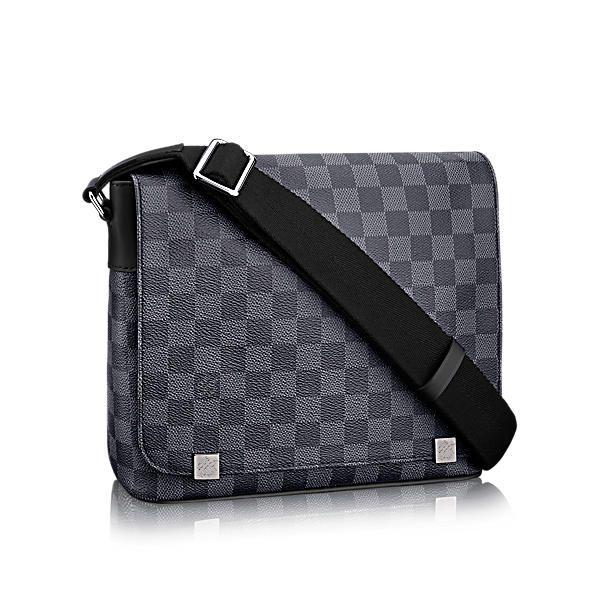 LOUIS VUITTON DISTRICT GM.  louisvuitton  bags  shoulder bags  leather   canvas  lining  metallic   7bbedcdd79f