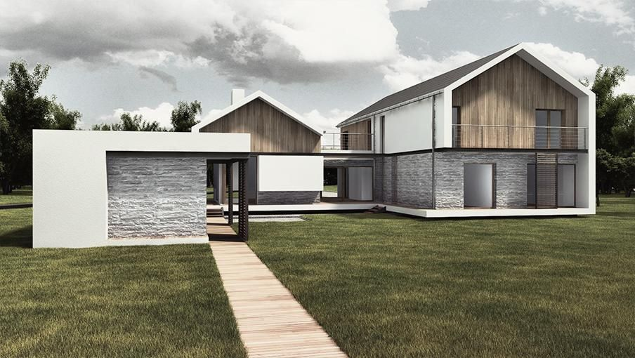 pitched roof contemporary houses Google Search Façade