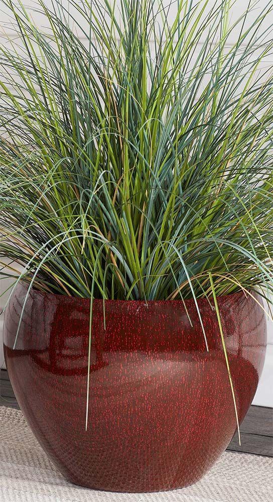 Better Homes & Gardens Mirren 17 Inch Round Planter, Red