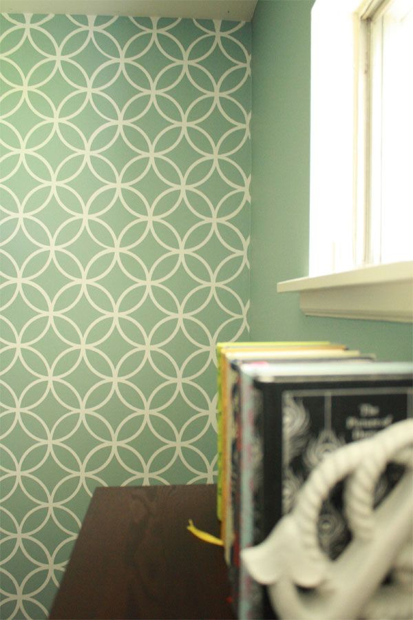 Love The Wall Color Here With Our Endless Circles Stencil Rosemary