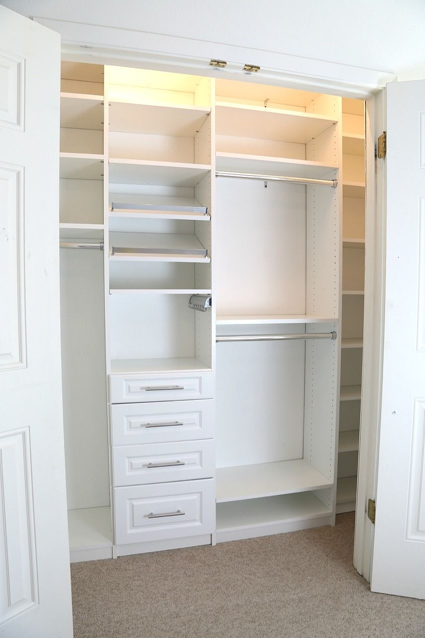Closet Makeover Incorporating Easyclosets System Ad