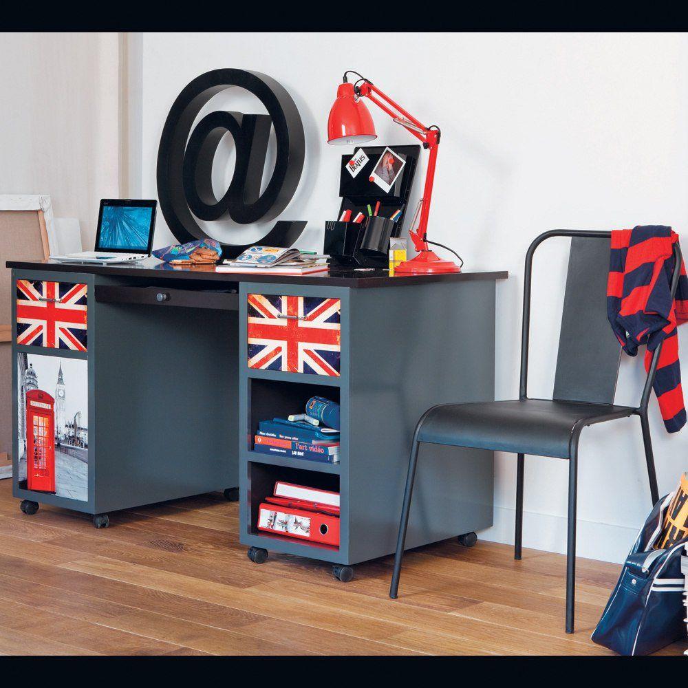 Bureau LONDON  Déco chambre londres, Chambre ado, Chambre ado londres