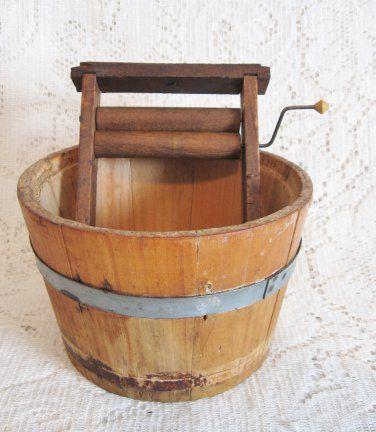 Vtg Toy Wood Wringer & Laundry Tub ~ Child Wash Bucket ~ SOLD | I ...