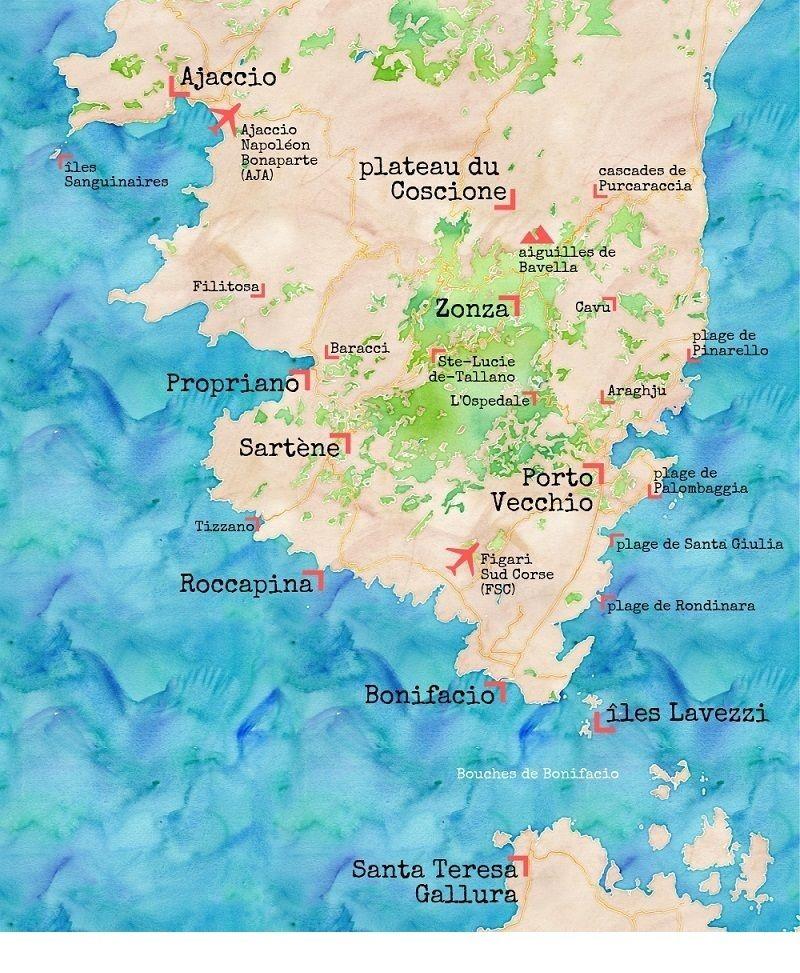 Notre Itineraire D Une Semaine En Corse Du Sud Corse Du Sud