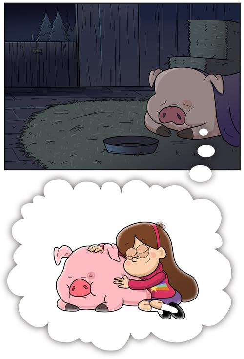Gravity Falls - Mabel and her pig comic pg7 by moringmark