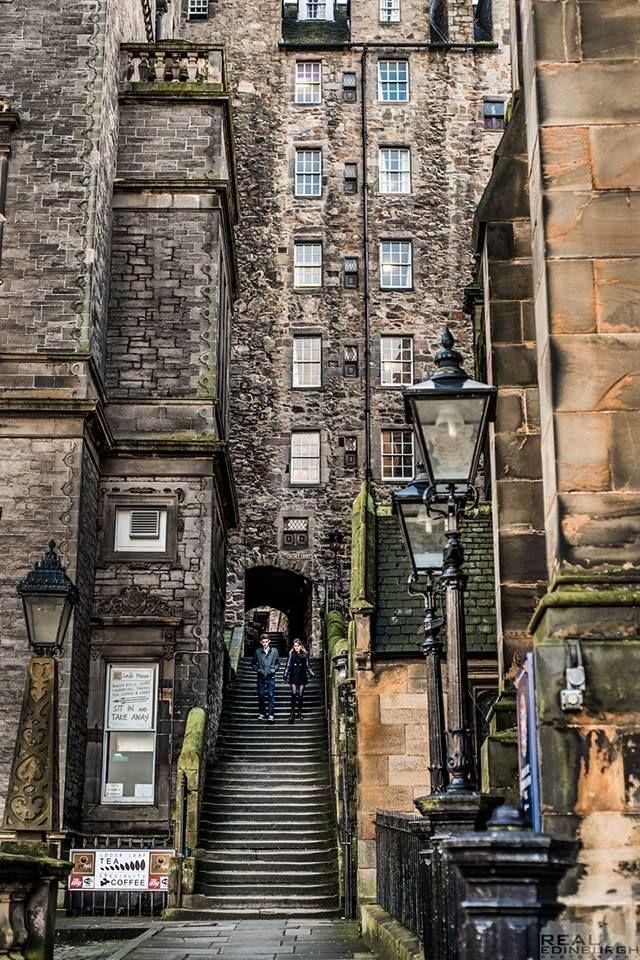 Milnes Court, Edinburgh, Scotland.  - (explore your biking wanderlust on www.motorcyclescotland.com)