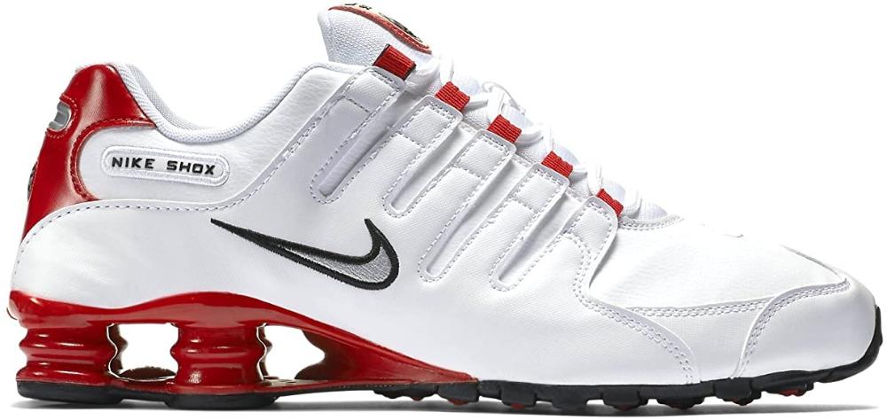 Nike Mens Shox NZ Running Shoes White/Met