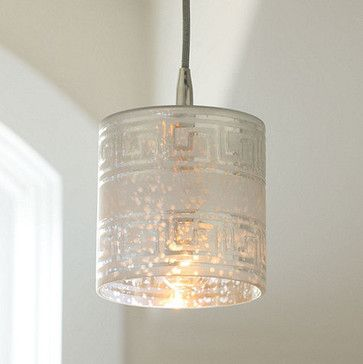 Greek Key 1-Light Pendant - traditional - pendant lighting