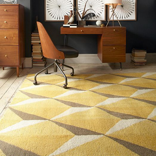 Susan Yeley Interiors: The 100% Wool Geo Gemstone Rug Is Handtufted By Indian