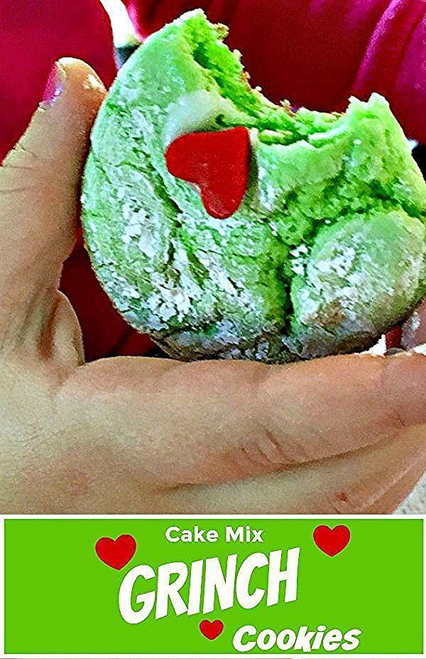 Cake mix GRINCH Cookies recipe ~ easy enough for kids to make - watch the VIDEO! Fun Christmas recipe while you're watching How the Grinch Stole Christmas! #grinchcookies #grinch #christmascookies #holidaybaking #kidrecipes #cakemixcookies #easycookierecipes #grinchcookies Cake mix GRINCH Cookies recipe ~ easy enough for kids to make - watch the VIDEO! Fun Christmas recipe while you're watching How the Grinch Stole Christmas! #grinchcookies #grinch #christmascookies #holidaybaking #kidrecipes #c