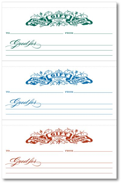 gifts certificates templates