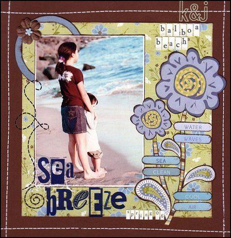 Sea Breeze, layout by scrapsakes