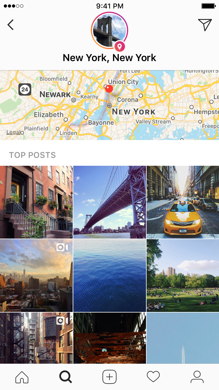 Instagram launches location and hashtag stories business technology instagram continues chasing snapchat with location and hashtag stories ccuart Images