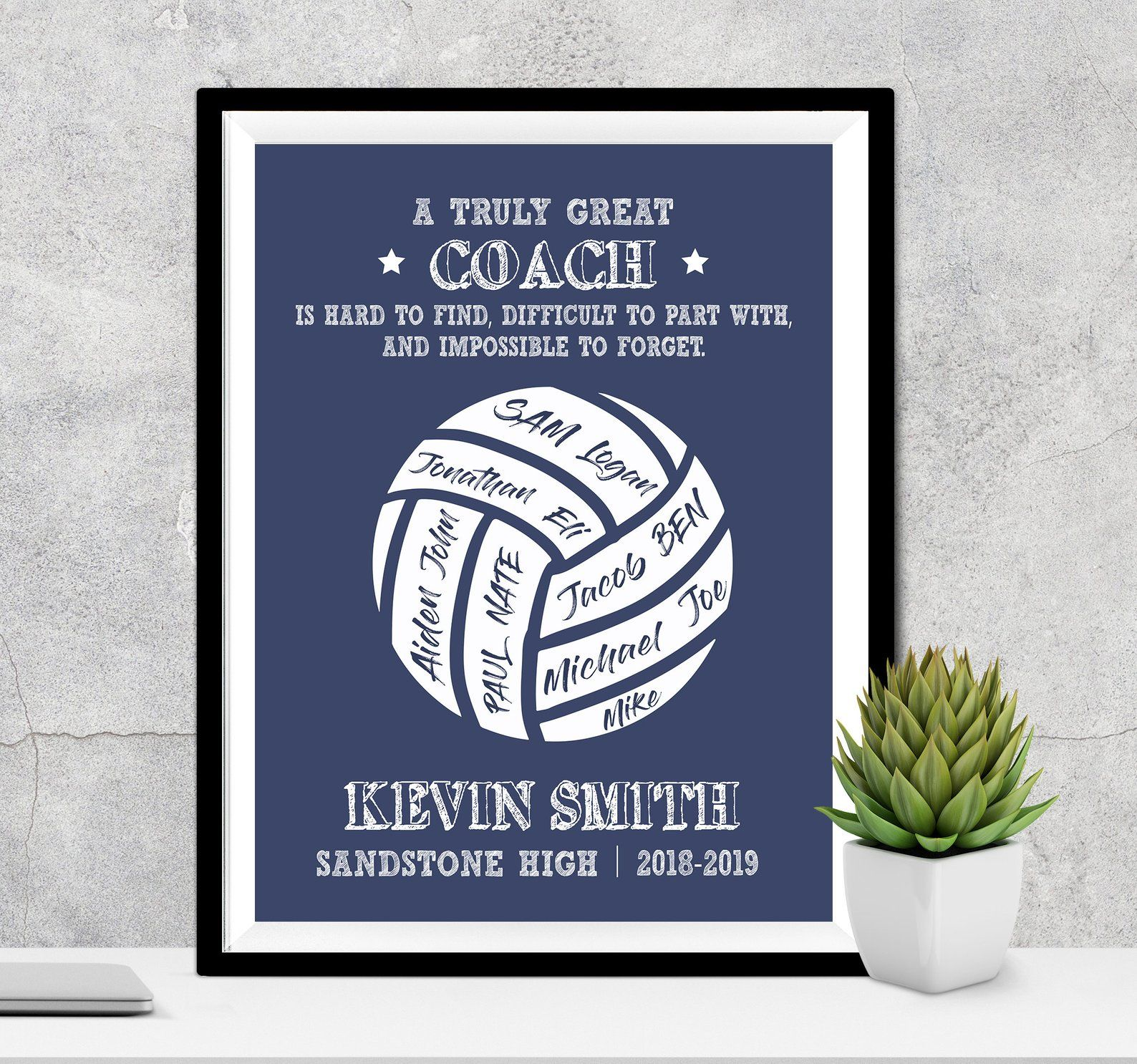 Coach Gift A Truly Great Coach Is Hard To Find Custom Etsy Coach Gifts Coach Appreciation Gifts Counselor Gifts