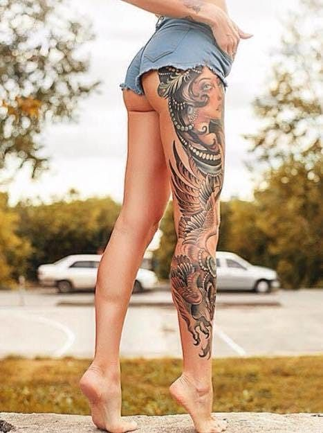 20 Stupendous Leg Sleeve Tattoos