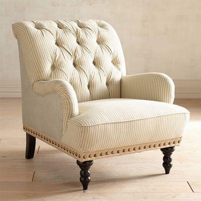 Chas Armchair Seersucker Armchair Striped Chair Wayfair Living Room Chairs