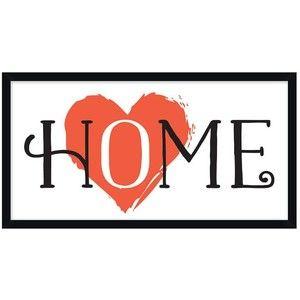 Pottery Barn Heart in Home Framed Print