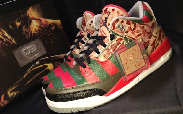 "... Air Jordan 3 ""Freddy Krueger"" Custom ... 9e6c816754d4"