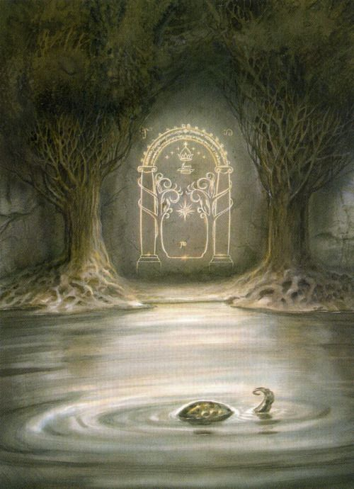 the walls of moria  it mirrors only starlight and