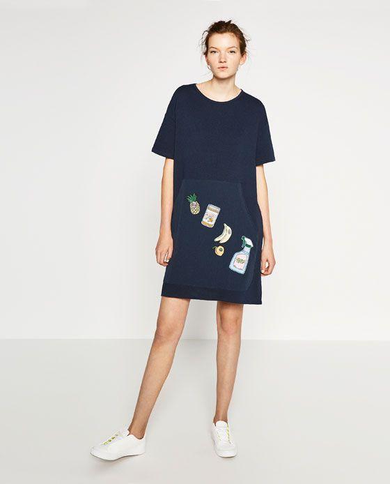 3fe06d7375 ZARA - WOMAN - PATCH MIDI DRESS | Fashion | Dresses, Elegant dresses ...