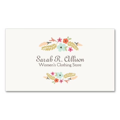 Cute flowers fashion boutique off white business cards this is a cute flowers fashion boutique off white business cards this is a fully customizable business card colourmoves