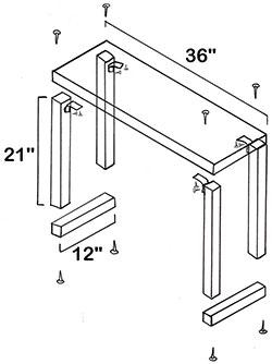 build wood keyboard stand