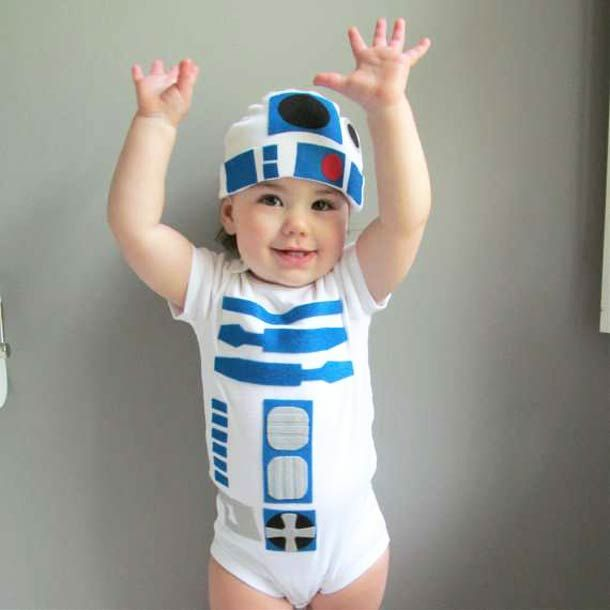 R2-D2 Body Suit For Geeky Babies Toddler Halloween Costumes 3a3cb3db6fb