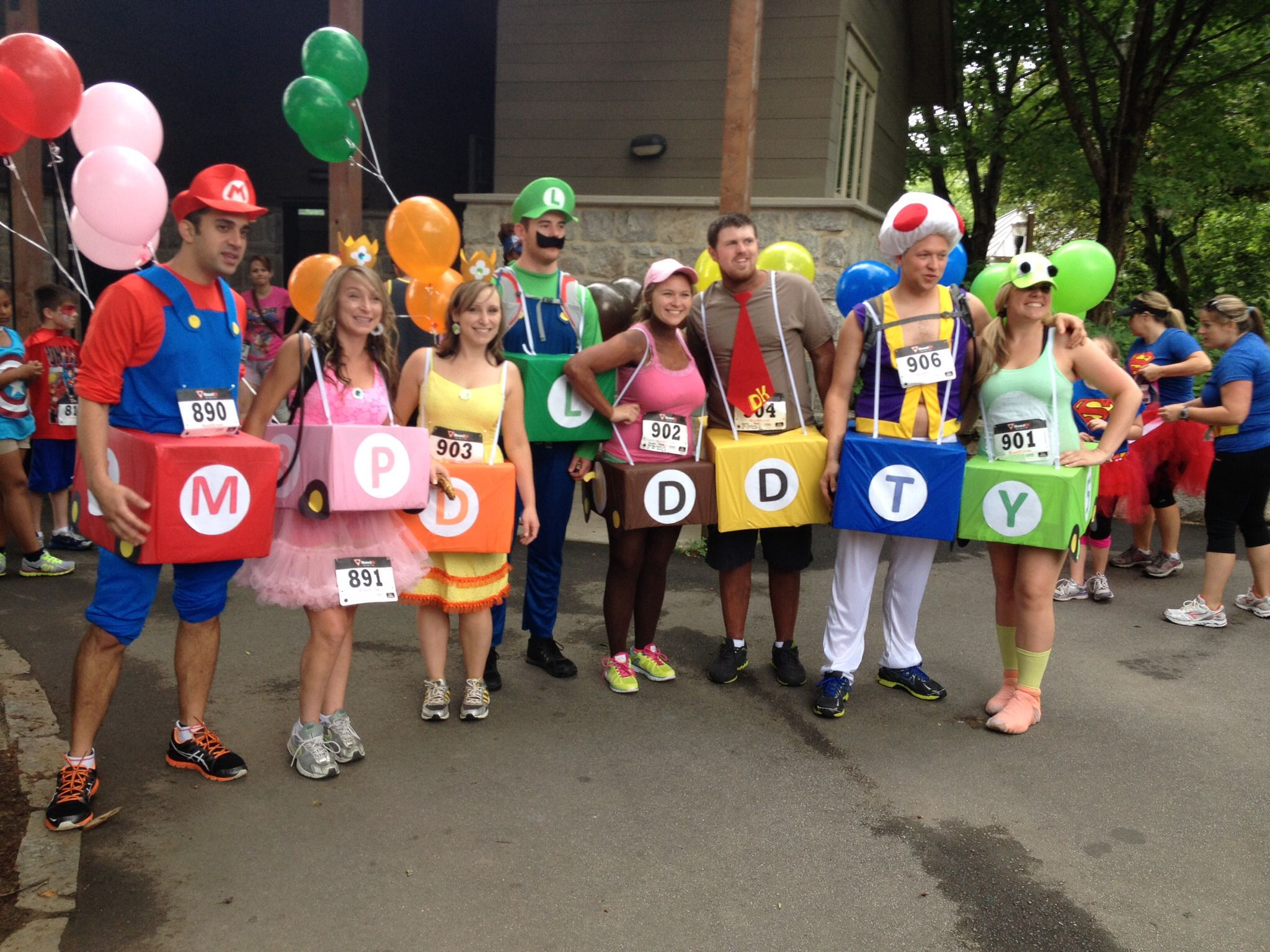 Mario and Luigi Go Kart Costumes Halloween Blog Hop | Dragonflies ...