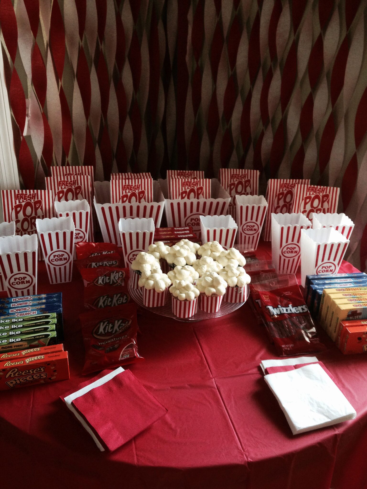 Our Movie Night Themed Party With All Dollar Tree Decorations Affordable Party Idea Hollywood Party Decorations Movie Theme Birthday Party Movie Night Party