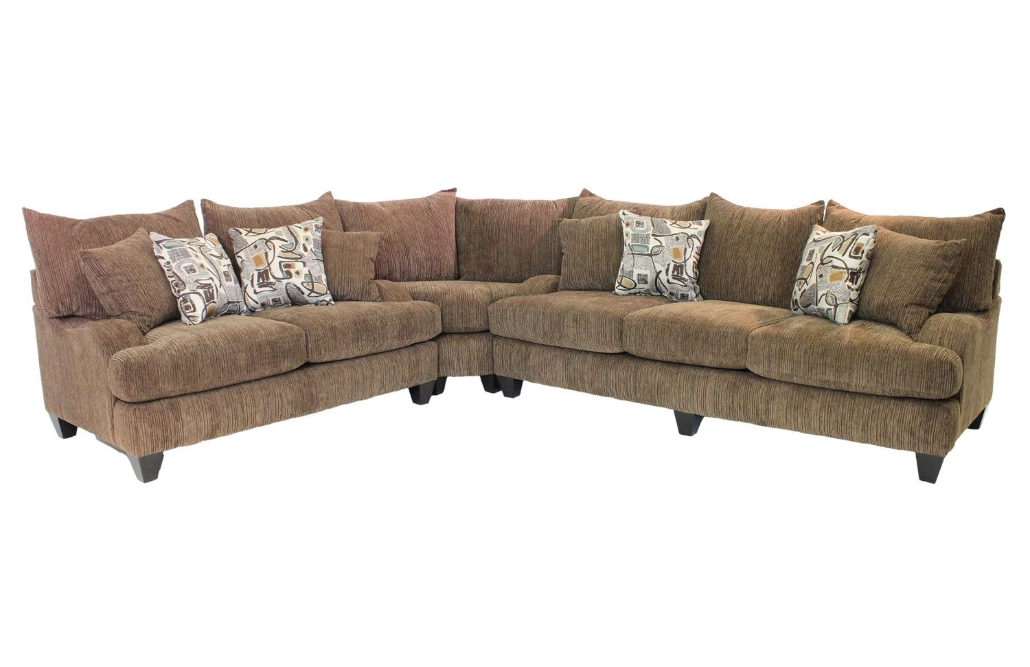 Living Room Furniture For Less Tabby Brown Sectional Living Room Furniture Sale Mor