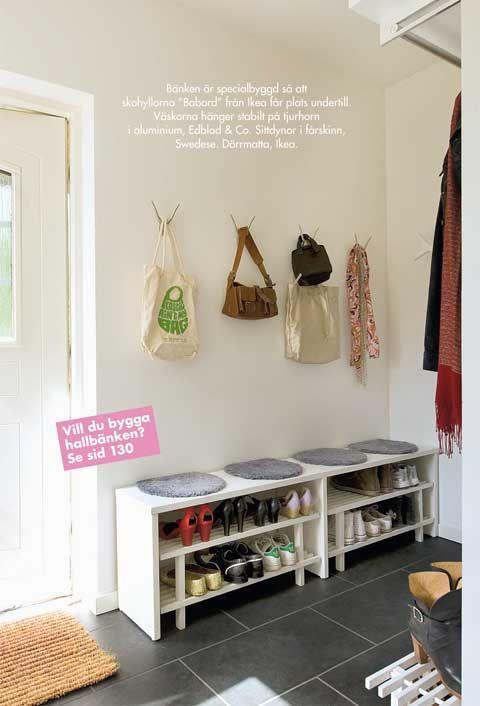 Göra egen skohylla sittplats till hallen? Hallinredning Pinterest Inredning, Hall och Sök