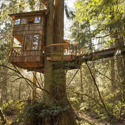 Frank Lloyd Wright Lake Treehouse — Nelson Treehouse