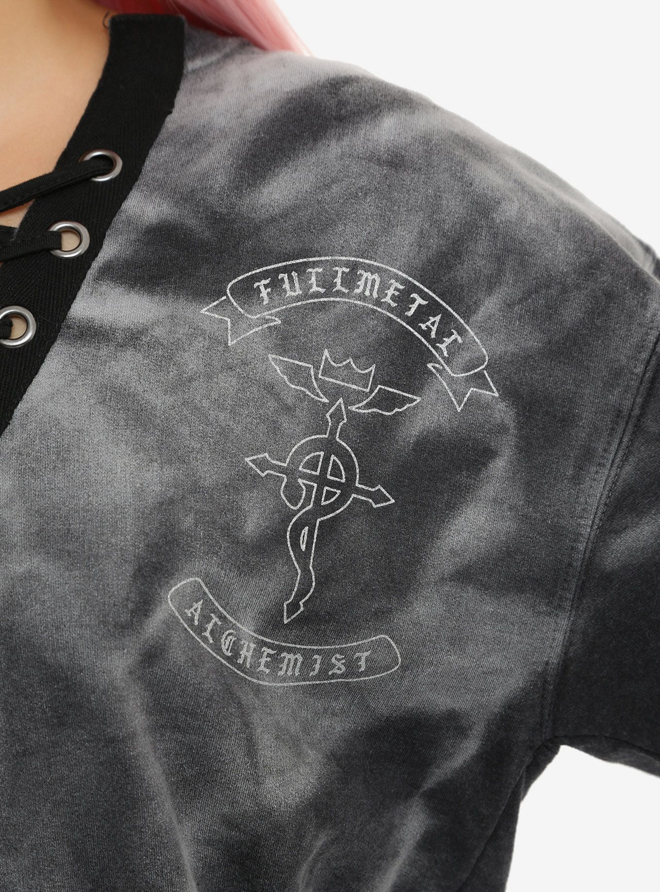 Fullmetal Alchemist Tie Dye Lace Up Girls Sweatshirt Girl Sweatshirts Sweatshirts Geek Girl Fashion [ 1836 x 1360 Pixel ]
