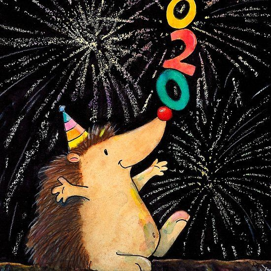 'New Year 2020 greeting card by Nicole Janes' by nicolejanes