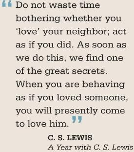 C S Lewis On Loving Your Neighbor One Of The Great Secrets Of This Life Inspirational Quotes Cs Lewis Quotes Inspirational Words